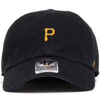 Pittsburgh Pirates Abate Clean Up Unstructured Strapback Hat Black