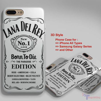 lana del rey jack daniels 1 - Personalized iPhone 7 Case, iPhone 6/6S Plus, 5 5S SE, 7S Plus, Samsung Galaxy S5 S6 S7 S8 Case, and Other
