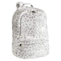FUR GRAY SNOW LEOPARD BACKPACK