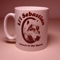Pawnee Lil' Sebastian Forever in our hearts. Retro style Mug