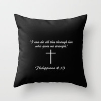 Phillipians 4:13 Gifts Throw Pillow by productoslocos | Society6