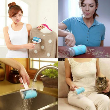 Super Sticky Washable Dust Lint Roller With Cover for Fluff Pet Hair Dust Remover Lint Sticking Dusting Roller Worldwide Store