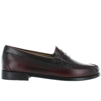 Bass Weejuns Whitney   Cordovan Leather Classic Penny Loafer