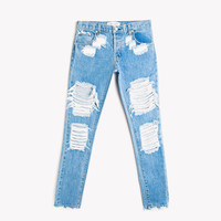 Skinny Destroyed Stone Babe Jeans