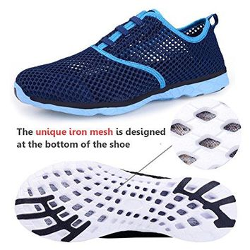 WateLves Water Shoes Womens Quick Drying Aqua Shoes Beach Pool Shoes Athletic Sport Lightweight Walking Shoes Mesh Slip On