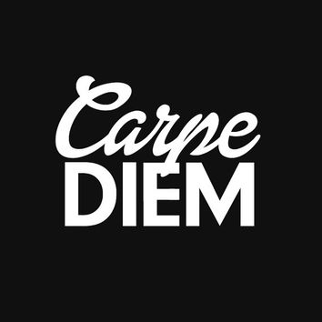 "Gift Ideas for Her Motivational Poster ""Carpe Diem"" Typography Poster Birthday Gift Graduation Gift Xmas Gift Art Print"