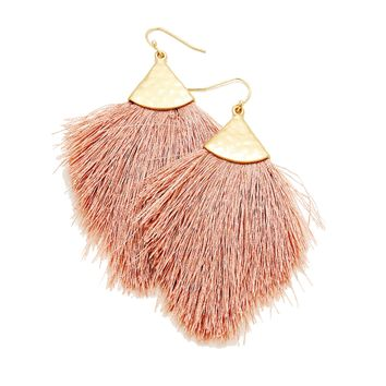 Shoulder Sweeping Tassel Earrings