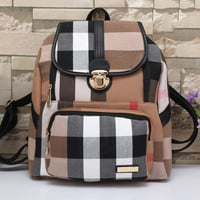 Burberry Women Leather Bookbag Shoulder Bag Handbag Backpack