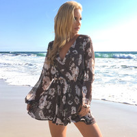 Petal To The Metal Floral Romper