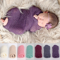 Stretch Knit Wraps Newborn Infant Photography Prop