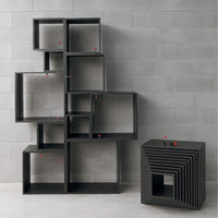Seletti - Black Assemblage Storage Units 10pcs Set | Panik Design