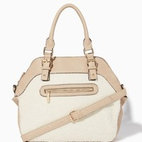 Slopeside Shearling Satchel | Fashion Handbags - Slope Style | charming charlie