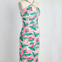 Mover and Holiday-Maker Dress in Flamingos | Mod Retro Vintage Dresses | ModCloth.com