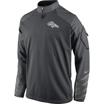 Denver Broncos Nike Platinum Fly Rush 2.0 Pullover Performance Jacket – Charcoal - http://www.shareasale.com/m-pr.cfm?merchantID=7124&userID=1042934&productID=551037982 / Denver Broncos