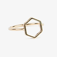 Gold Hexagon Ring