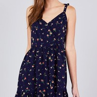 Flowers Bloom Dress - Navy