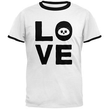 Panda Love Series Mens Ringer T Shirt