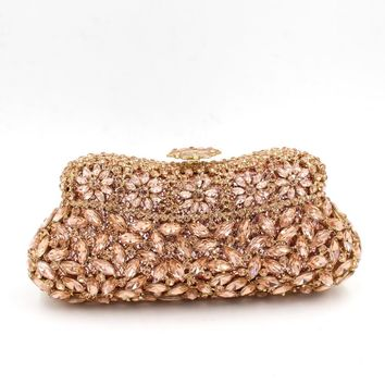 Cheap Green Rhinestone Minaudiere Bridal Wedding Clutches