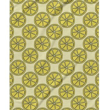 LEMON SLICES PATTERN Beach Towel By Northern Whimsy