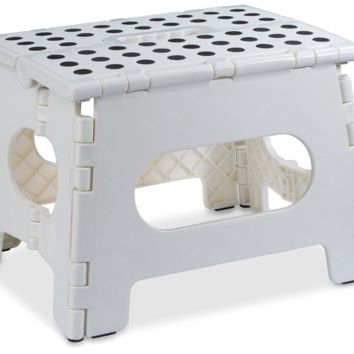 "Folding Step Stool - 11"" Wide - The Lightweight Step Stool is Sturdy Enough to S"