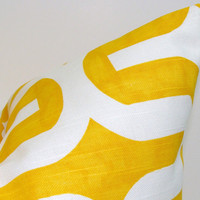 SALE.Yellow.Pillow.12x16 or 12x18 inch.Pillow Covers.Printed Fabric Front and Back.Yellow Housewares.Home Decor.Cushions.cm.Zag.Chevron