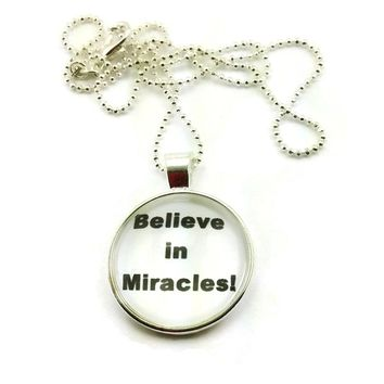 Mama Designs Handmade Inspirational Glass Dome Charm Sterling Silver or Leather Necklace | Overstock.com Shopping - The Best Deals on Necklaces