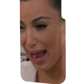 Best 3D Full Wrap Phone Case - Hard (PC) Cover with Kim Kardashian Ugly Face Cry Design