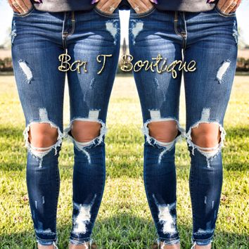 Rough Around The Edges Skinny Jeans