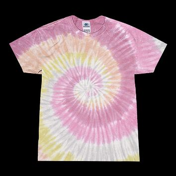 Tie Dye Shirt Multi Color Colorful Desert Rose Pastel Spiral T-Shirt
