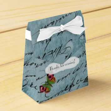 Vintage Paris Themed Wedding Party Personalized Favor Boxes