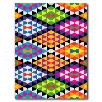 Native American Geometric Pattern Postcard