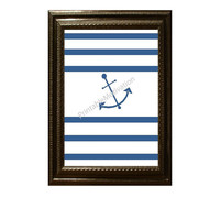 Anchor Nautical Art - Printable Art - PDF Printables - Sailor Art