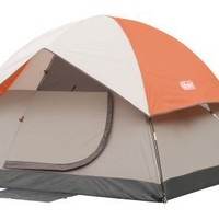 Coleman SunDome 7-Foot by 7-Foot 3-Person Dome Tent (Orange/Gray)