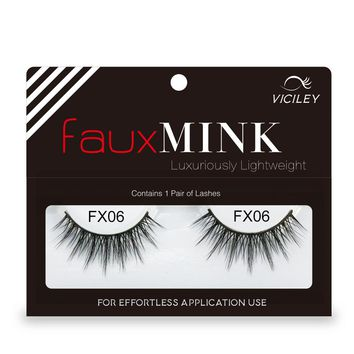 VICILEY 1 box mink eyelashes natural long 3d false lashes hand made faux cils plastic cotton stalk makeup 3d mink lashes FX06