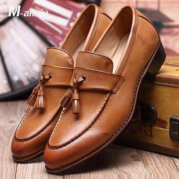 Fashion Leather Doug Casual Flat Tassels Loafers