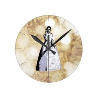 Korean traditional costume Hanbok - 한복 Round Clock