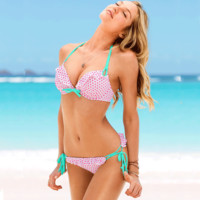 New Arrival Swimsuit Beach Summer Hot Swimwear Floral Water Droplets Sexy Bikini [6048403137]