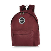 River Island MensRed Hype backpack