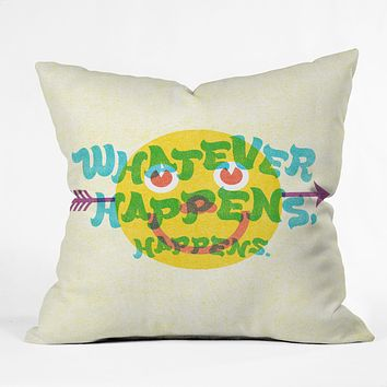 Nick Nelson Whatever Happens Throw Pillow