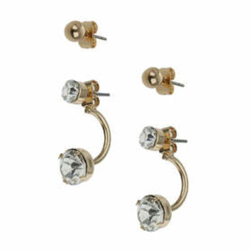 Crystal Front And Back Stud Pack - Clear