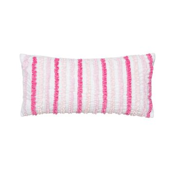 Ruffle Throw Pillow (Pink)