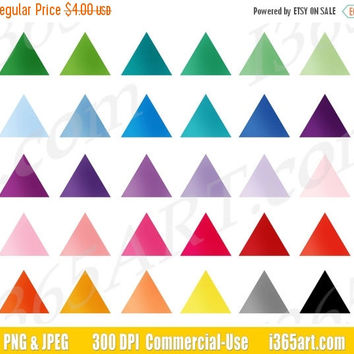 50% OFF SALE Triangle Clipart, Triangle Flag Clip Art, Triangle Flags, Triangle Banners, Frames, Borders, Planner Stickers, PNG, Commercial