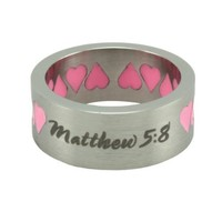 Christian Women's Stainless Steel Abstinence Matthew 5:8