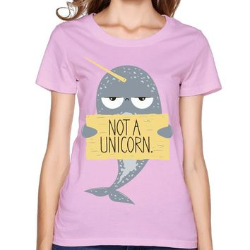 Narwhal Not A Unicorn Pink T-Shirt