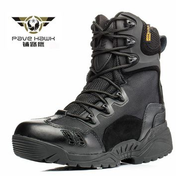 Brand Hiking Climbing Sneakers leather men Outdoor sports Fishing hunt waterproof boot women army Military Desert tactical shoes