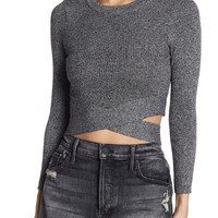 Demi Criss Cross Crop Top Sweater