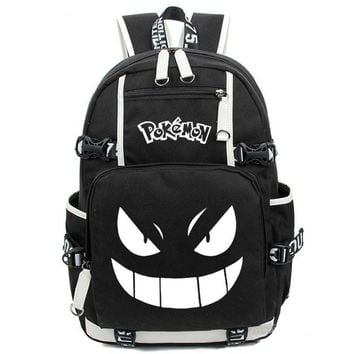 NEW Teenager Girls Boys Mochila women men School Bags Anime Luminous Printing Backpack Pokemon Gengar Cosplay Backpacks