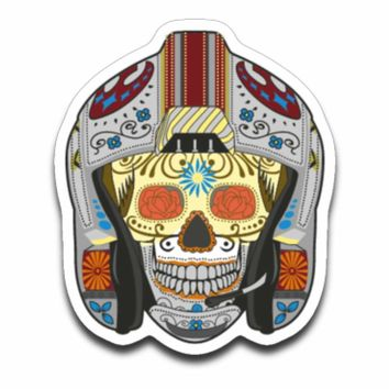 Star Wars Rebel Star Fighter Sugar Skull Day of the Dead Sticker Decal