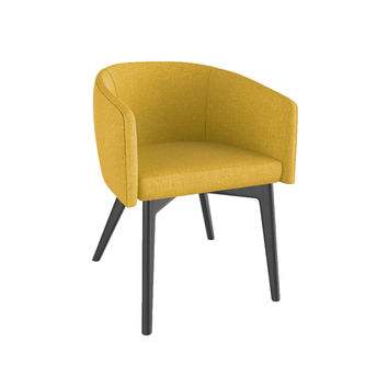 Downtown Yellow Linen Armchair