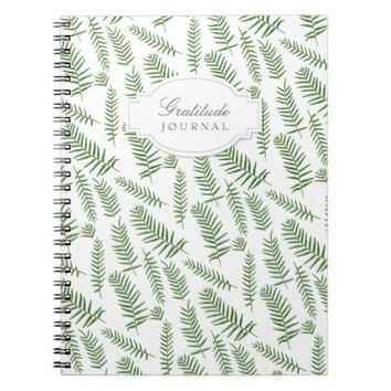 Botanical Fern Gratitude Journal | Spiral Notebook